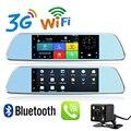 7 polegada 3G GPS de Navegação Dashboard DVR Android 5.0 Chamada de Telefone Bluetooth Full HD 1080 P WiFi câmera de Visão Traseira DVR Câmera Dupla 1G RAM GPS