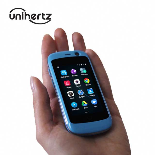 Unihertz Jelly Pro, The Smallest 4G Smartphone in The World, Android 7 0  Nougat Unlocked Cell Phone with 2GB RAM 16GB ROM Blue