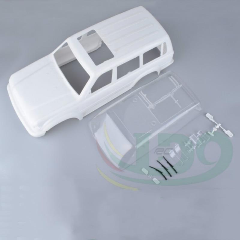 RC Crawler Chassis Land Curiser LC80 Vita Färger Hårda Kroppar Kropp för Rc AXIAL SCX10 Traxxas Trx4 TRX-4 Kropp Hjulbas 313mm