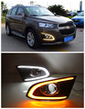 For Chevrolet Captiva 2014 2015 2016 LED DRL LED Fog Lamps Daytime Running Lights With Turn Signal Light