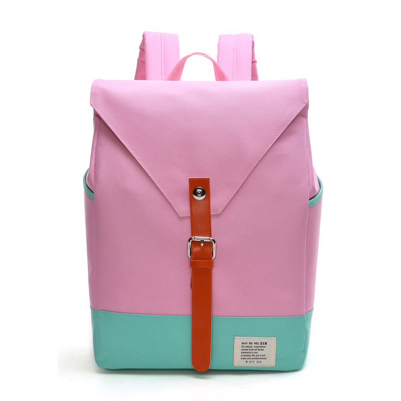 famous Brand Women  Brand Fashion Unique Design Women Book Bag Ladies Backpack Bags Canvas Schoolbag Backpacks for Teenage Girls aosbos fashion portable insulated canvas lunch bag thermal food picnic lunch bags for women kids men cooler lunch box bag tote