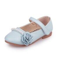 Kinder Prinzessin Schuhe Sommer Einzelnen Schuhe pu-leder Korean Schuhe für Mädchen Blume Perle Mädchen Sandalen Rosa