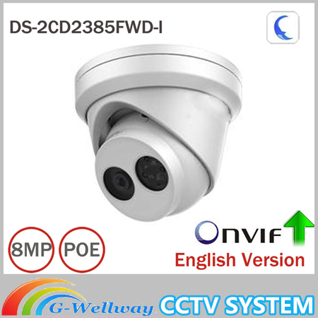 Hik 8MP IP Camera DS-2CD2385FWD-I Network Turret Camera H.265 Updatable CCTV Security Camera With SD Card Slot кий для русской пирамиды cuetec veltex 2 составной цвет натуральный