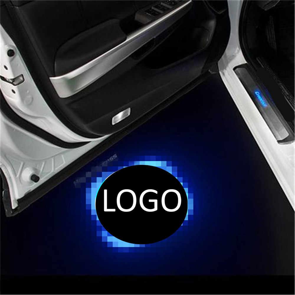 JXF caixa para Mazda Land Rover Lexus Infiniti Kia 2 pcs estilo do carro Levou Logotipo Bem-vindo Luz Porta Projetor Laser fantasma Lâmpada Sombra