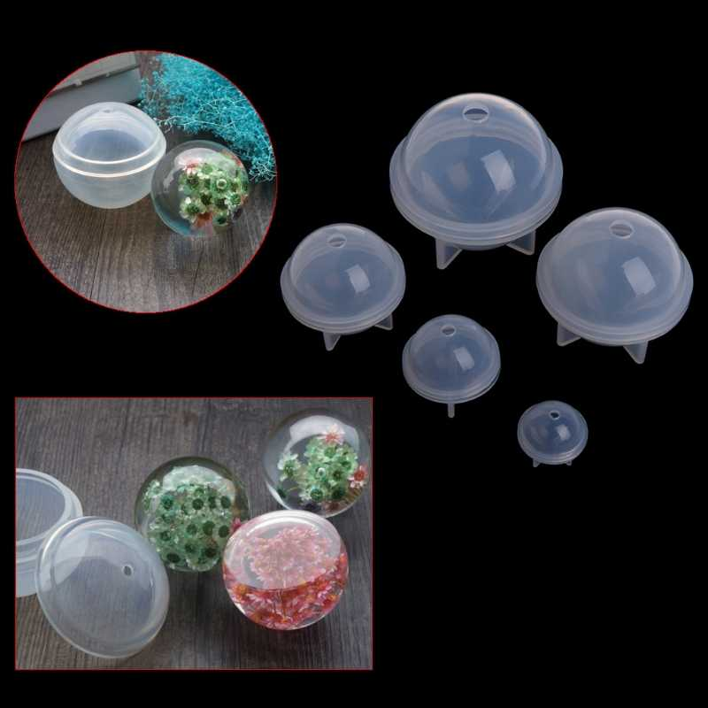 Stereo Spherical Silicone Mold Jewelry Making DIY Balls Resin Decoration Crafts Jewelry Tools