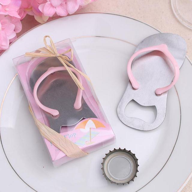 flip flop opener in pink gift box beach themed wedding bridal shower party favor guest gift in party favors from home garden on aliexpresscom alibaba