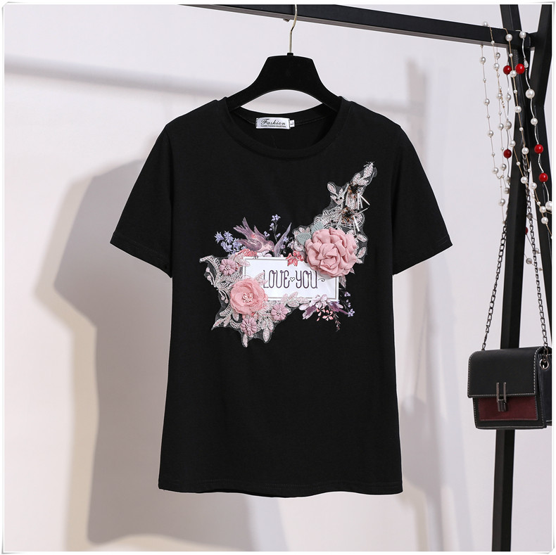 3D Flowers Stylish T Shirts 5