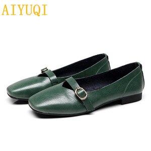 Image 5 - AIYUQI kadın düz ayakkabı 2020 bahar yeni hakiki deri kadın rahat ayakkabılar büyük boy 35 43 rahat anne ayakkabısı kadın