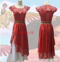 Elena Cosplay Costume Red Fancy Dress Elena of Avalor Princess Halloween For adult Custom Made