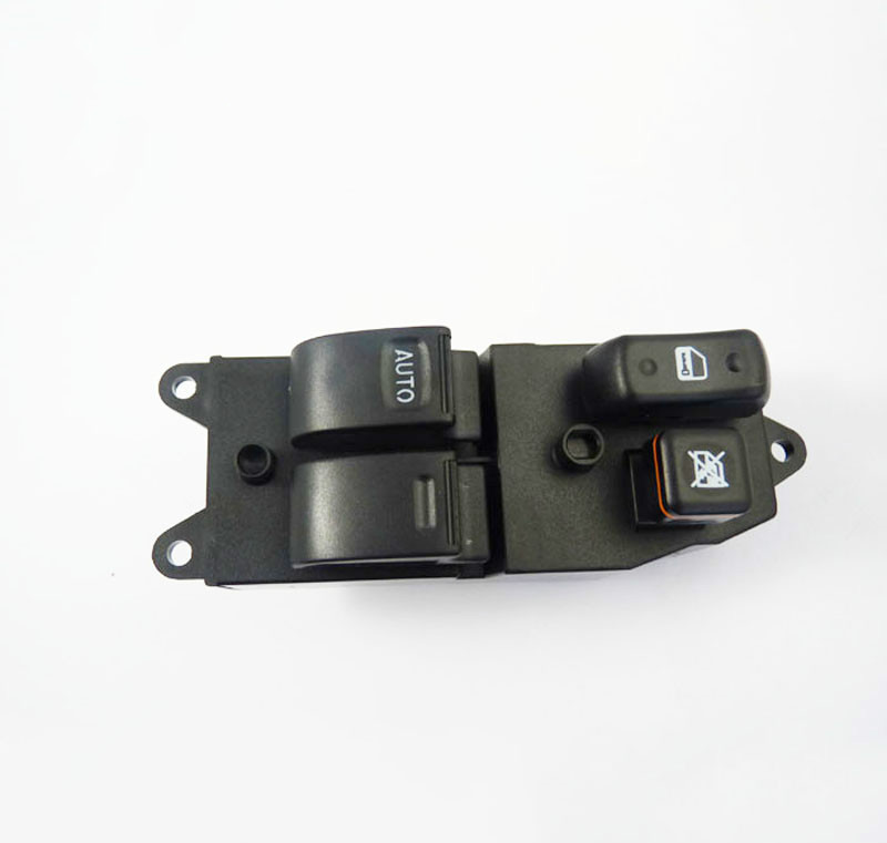Front 2 Button Power Window Master Switch Black For Toyota