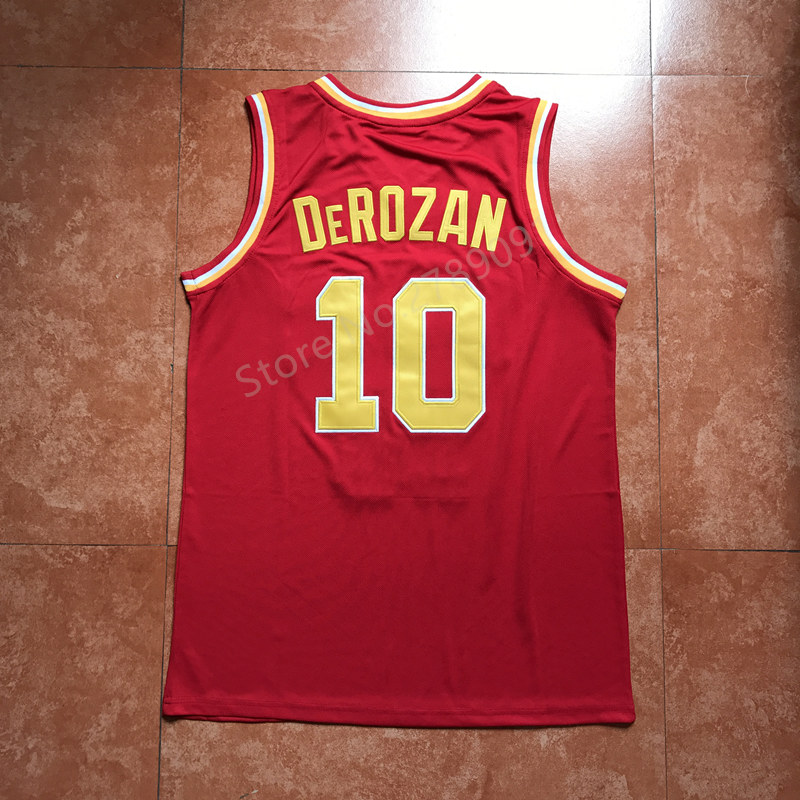 2ec661931  10 Demar DeRozan red usc Trojans College Throwback Basketball Jersey  Stitched-in Basketball Jerseys from Sports   Entertainment on  Aliexpress.com