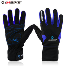 Inbike autumn and winter thick bicycle gloves ride gloves windproof gloves slip-resistant thermal Mittens Outdoor Fun & Sports