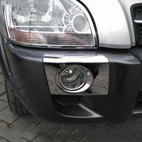 For Hyundai Tucson 2005 2006 2007 2008 First Generation ABS Chrome Exterior Front Fog Light Lamp Cover Trims Foglights Frames