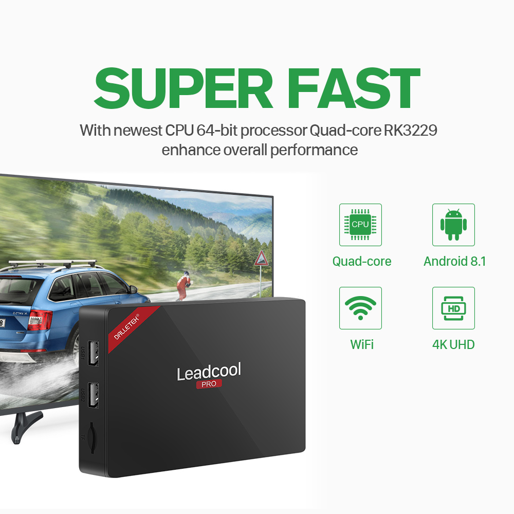 Image 4 - Leadcool Pro TV Box Iptv France Subscription Android 8.1 RK3229 With 1 Year QHDTV French Arabic Tunisia Italia Netherlands Ip Tv-in Set-top Boxes from Consumer Electronics