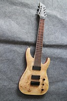 AAAAA Burl Top string through Body 8 String Guitar Guitarra All Color Available oem guitar factory supplier
