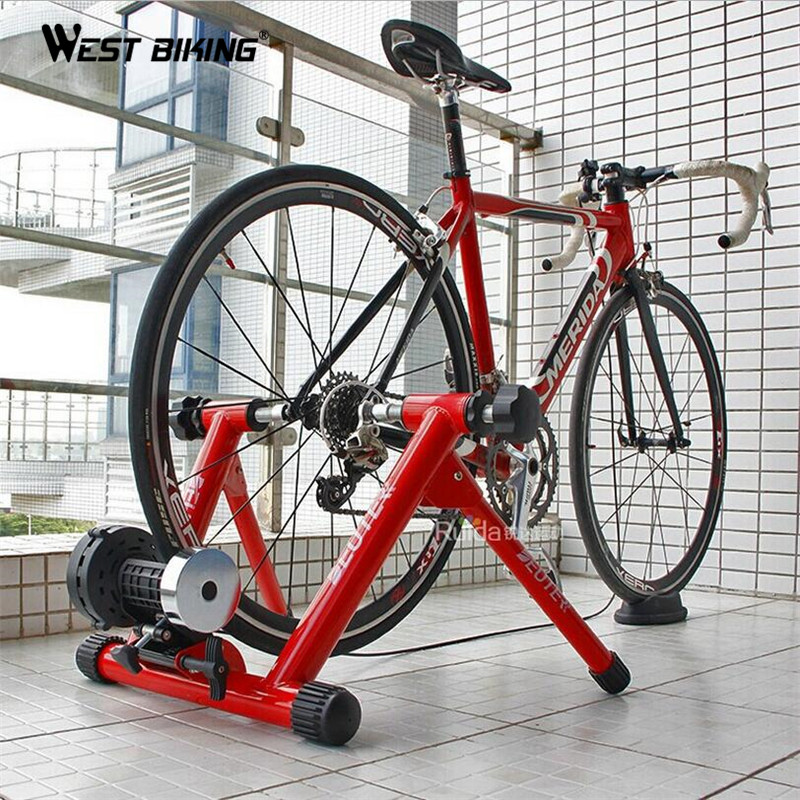 WEST BIKING Indoor Cycling Exercise Station Profession Bike Trainer Physical Training for Long Distance Match 26 to 28 Inch