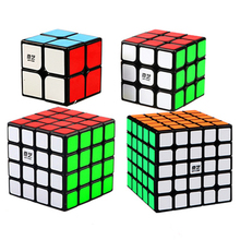 купить QIYI Professional Cube 3X3 4X4 Neo Cubo Puzzle Speed Mirror Magic Cube Metal Learning Education Children Grownups Cubic Ruby Toy онлайн