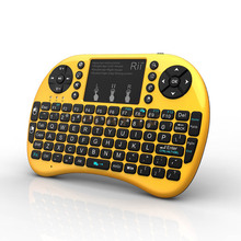 [Genuine] Rii mini i8+ 2.4G Wireless keyboard backlit English With TouchPad gaming Mouse for Tablet Mini PC smart tv box