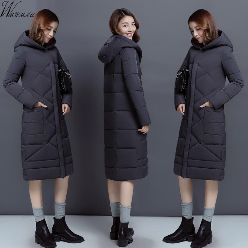 Wmwmnu 2017 New long thick Female Warm Winter Jacket Women Coat High-quality Slim Down Cotton Parka Cotton-padded Outwear цены онлайн