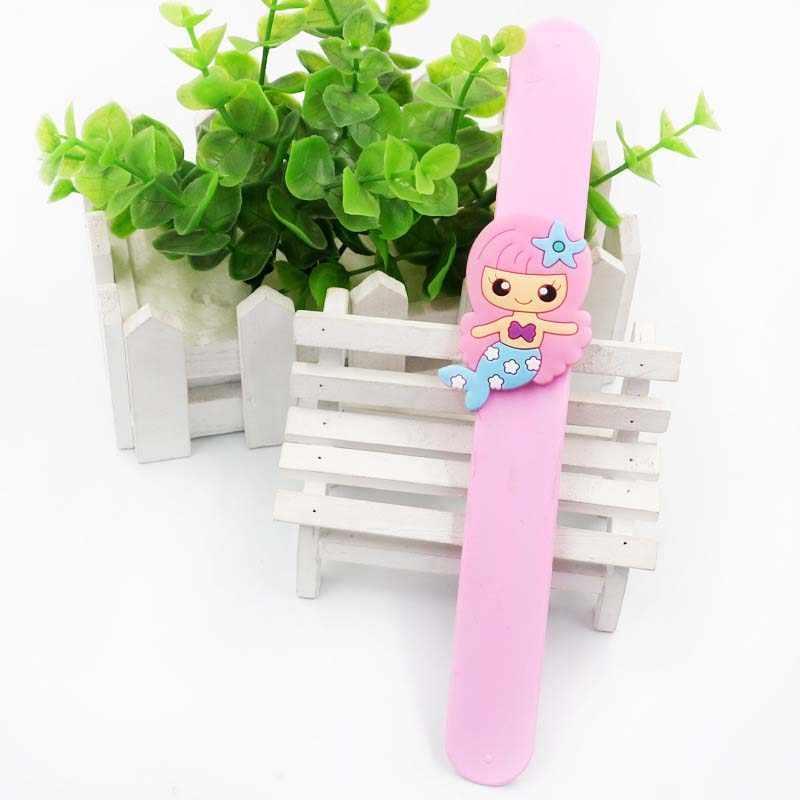 1 pc Little Mermaid Bomboniere e Ricordini Wrap Flessibile Schiaffo Wristband Del Braccialetto Sirena Del Braccialetto Delle Ragazze di Compleanno di Cerimonia Nuziale Del Partito Giocattoli Per Bambini Regalo