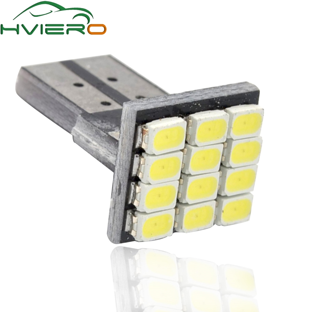 194 12SMD 1206 Auto White LED DC 12V Canbus No Error Decoder Auto External Lights License Plate Lamp Parking Rear Bulb
