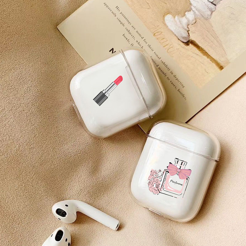 Case For Apple airpods case Cartoon Perfume Dress Wireless Bluetooth Earphone Case For Airpods Headphone Hard Protective Case