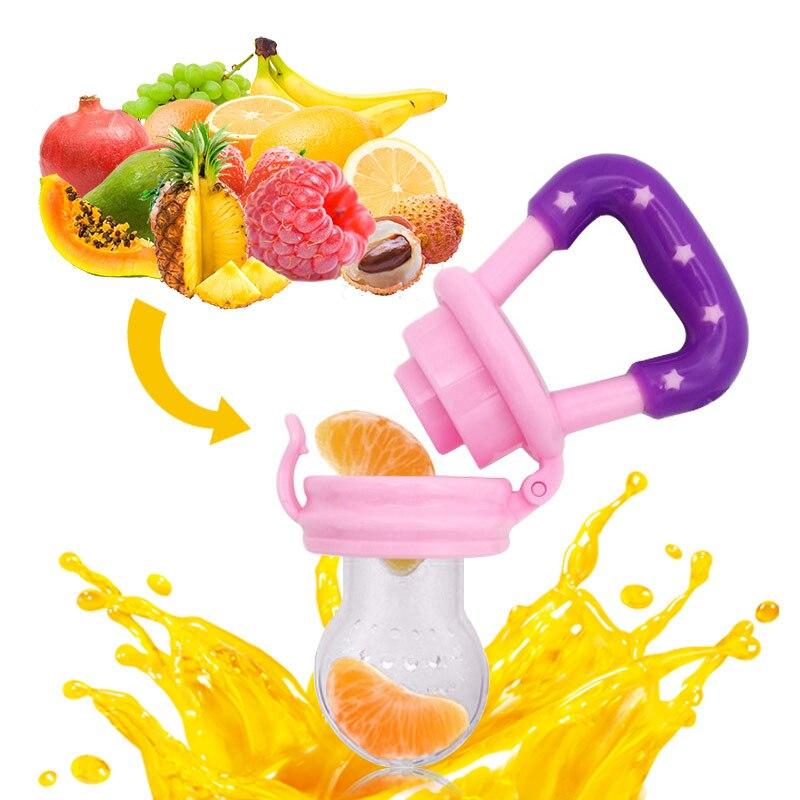1Pcs Baby Pacifier Fresh font b Food b font Nipple Fruit Nibbler Feeder Kids Nipple Feeding