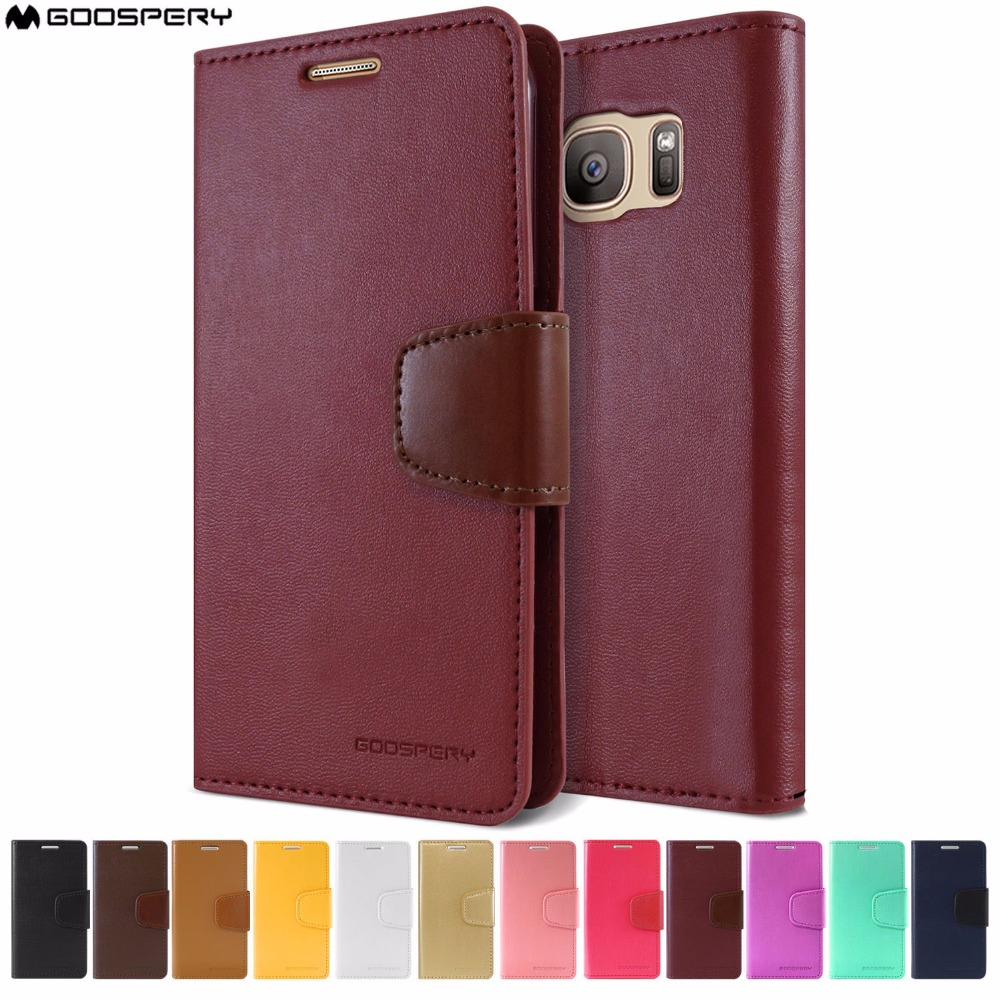 Original Mercury Goospery Sonata Diary Media Stand Wallet Case Flip Samsung Galaxy S8 Canvas Red Cover For S6 S7 Edge Plus Note 2 3 4 5 8 In Cases From