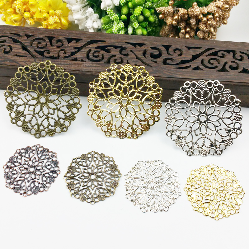 20pcs 35/50mm Filigree  Wraps Metal Charms For Embellishment Scrapbook DIY Jewelry Metal Craft  Wraps20pcs 35/50mm Filigree  Wraps Metal Charms For Embellishment Scrapbook DIY Jewelry Metal Craft  Wraps