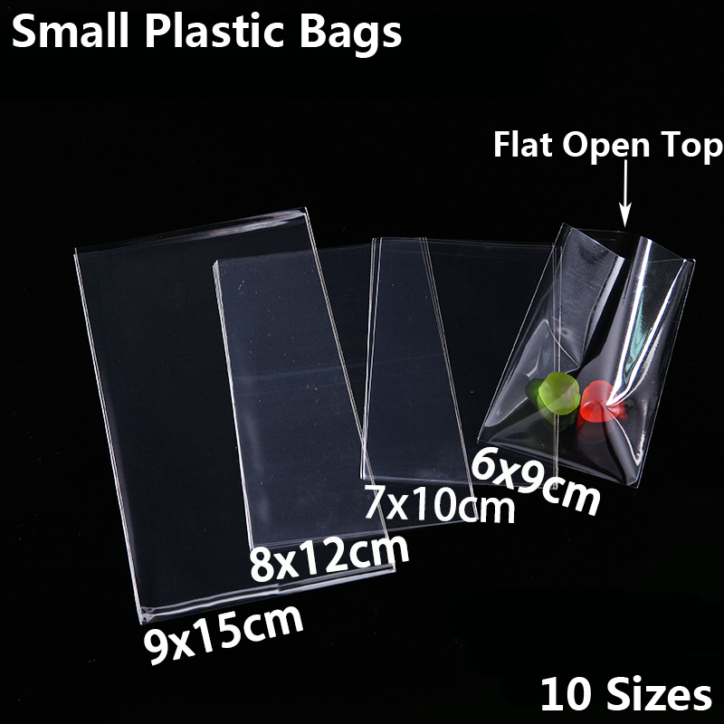 Transparent Food Package Sweets Cookies Lollipop Candy Biscuit Small Packaging Bags Christmas Toy Gift Packing Clear Plastic Bag