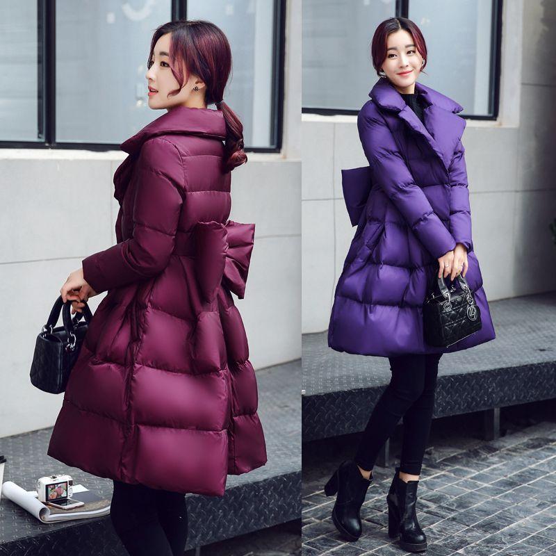 Red Arc 2018 Parkas Élégant Veste purple Femmes purple De Dames Mince Hiver Black Survêtement Coréenne Nouvelles Mode Coton Chaud Épais Manteau Pr152 1xOwFr1q