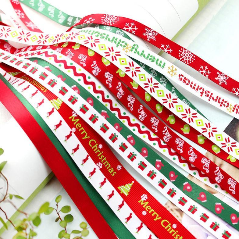 2016 смесь случайный тип Новый DIY ткань Рождество лента подарок 14 упаковка мешок (20 ярдов/партия)