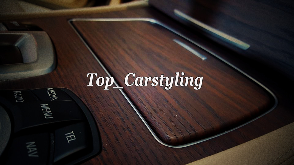 Dark woodgrain car wraping film Teak wood car styling (3)
