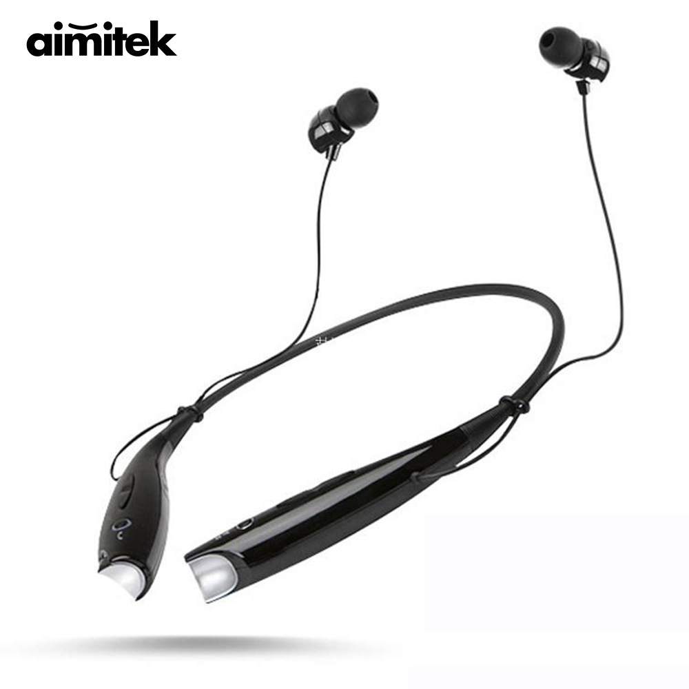 Aimitek HBS-730 Neckband Bluetooth Headphones Wireless Earphones Sport Stereo Headsets Handsfree with Microphone for iOS Android bluetooth wireless sport gloves earphones headsets headphones winter warm gloves touch screen handsfree calls mp3 play for phone