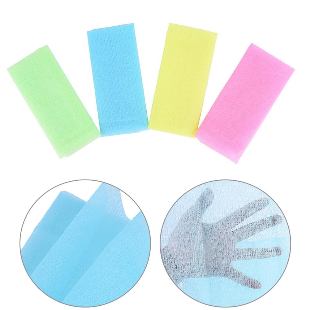 Nylon Japanese Exfoliating Beautiful Skin Bath Shower Wash Cloth Towel Back Scrub Body Cleaning Washing Sponges& Scrubbers