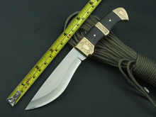 Pointed End Hunting Fixed Knives,5Cr13Mov Blade Black Wood Handle Camping Knife,Survival Knife