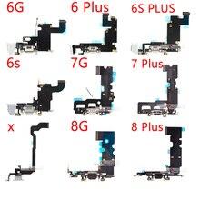 """10 sztuk/partia ładowarka kabel do iPhone 5 5S 6 6S 7 PLUS """"USB ładowarka Przewód dokujący ze złączem z mikrofonem Flex kabel"""