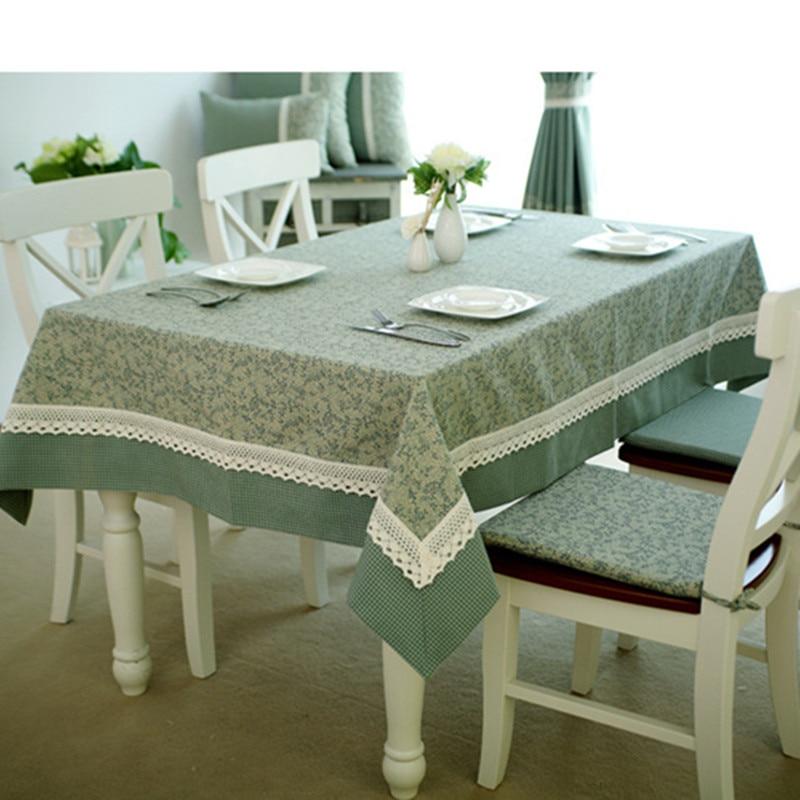 High Quality Leaves Grid Printed Christmas Table Cloth