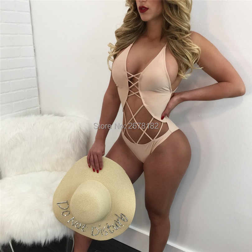 2018 Sexy One Piece Swimsuit Hollow Out Monokini Bandage Push Up Swimwear Women Backless Brazilian Beach Bathing Suit Swim Wear