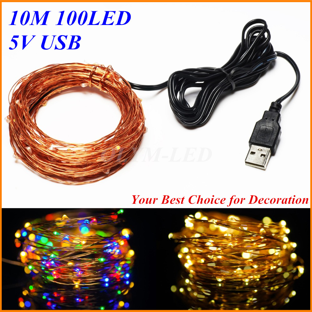 50x10m Usb Powered 5v Led Holiday Light Christmas Decor Copper Switch For 12v Or 24v Dc 96w Lights Specifications Wire String Wedding Party Fairy Starry Star