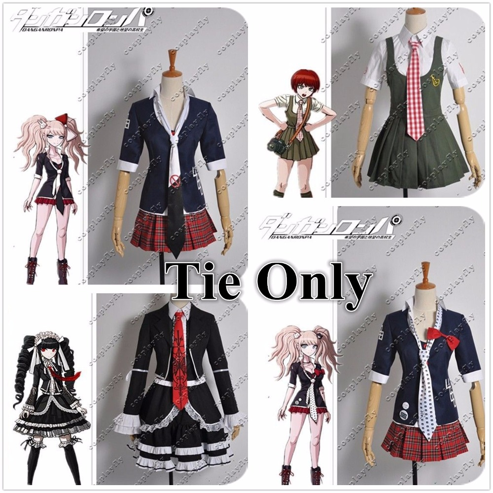 Tie Only !!! Danganronpa Dangan-Ronpa Junko Enoshima / Celestia Ludenberg / Mahiru Koizumi Hand-made Tie For Cosplay Costume