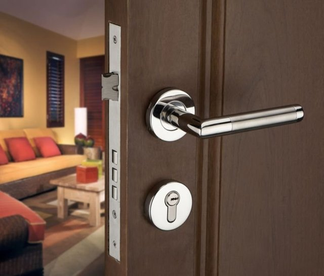 Free shipping!Stainless Steel Lever Handle Security Door Lock ...