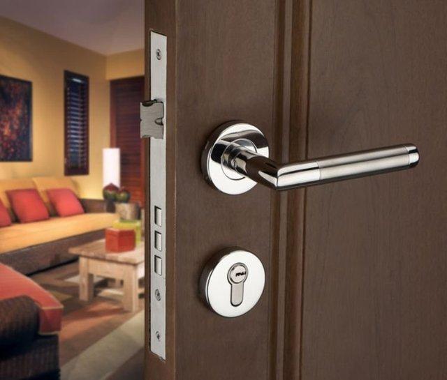 Free shipping!Stainless Steel Lever Handle Security Door Lock /Door ...