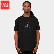 cotton short sleeve Skull basketball men loose T Shirt SF
