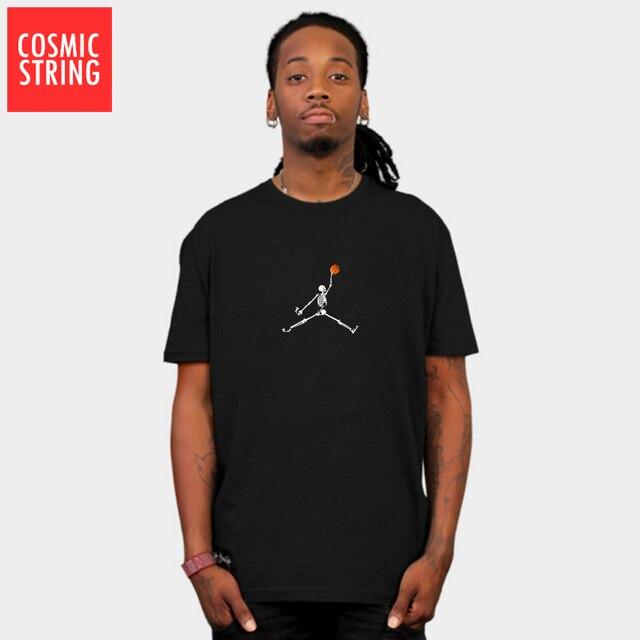 RAYON COSMIQUE 100% coton manches courtes basket-ball cool hommes t-shirt décontracté dété lâche hommes tshirt mâle t-shirts hauts tee t-shirts