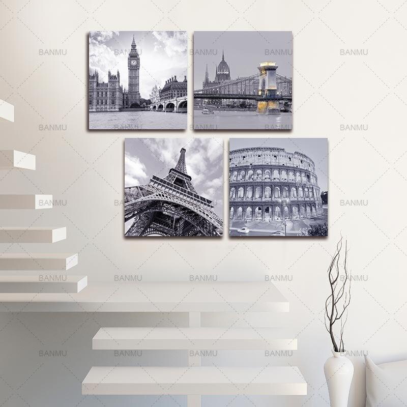 BANMU Wall Art Суреттер Кескіндеме 4 бөлік - Үйдің декоры - фото 5