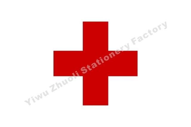 Красный Крест Флаг 150X90 см (3x5FT) 120 г 100d полиэстер двойной сшитый Высокое качество Бесплатная доставка