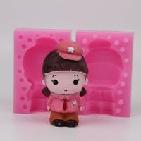 Girl Shaped Silicone Soap Mold Cake Decoration Fondant Cake 3D Mold Silicone Mould WD013