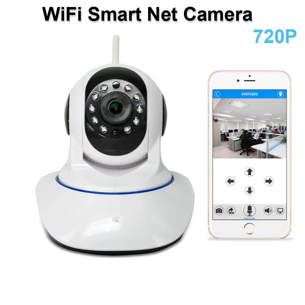 Wireless HD 720P p2p WiFi IP Camera ONVIF Network Security Audio Night Vision TF Card Recording