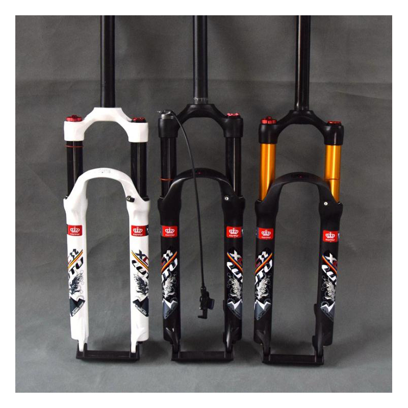 bicycle air fork 26 27.5 29 ER MTB mountain suspension fork air resilience shoulder control straight pipe Kashima inner pipebicycle air fork 26 27.5 29 ER MTB mountain suspension fork air resilience shoulder control straight pipe Kashima inner pipe